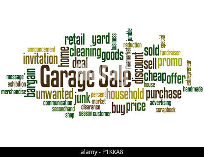 Garage Sale, word cloud concept on white background. - Stock Photo