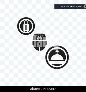 Concierge vector icon isolated on transparent background, Concierge logo concept - Stock Photo