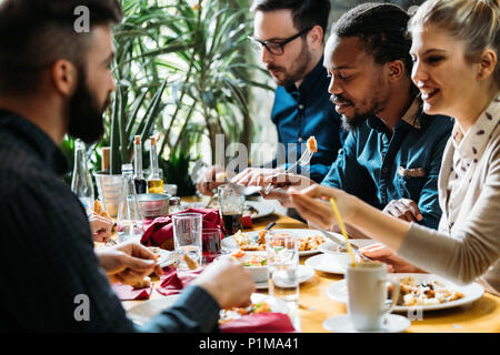 Picture of young business colleagues on break - Stock Photo