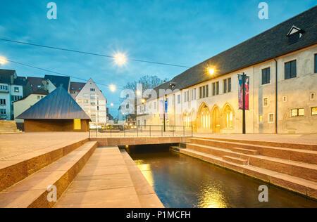 The Unterlinden Museum main entrance after the recent extension designed by architects Herzog & de Meuron. Colmar. Alsace. Grand Est. France - Stock Photo