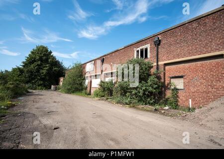 Abandoned buildings at Stanton Ironworks, Derbyshire, UK - Stock Photo