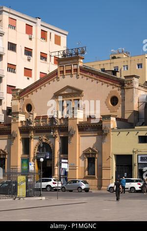 Italy Sicily Palermo Piazza Ruggero Settimo Via Emerica Amari Kursaal built 1914 now Bingo Hall - Stock Photo