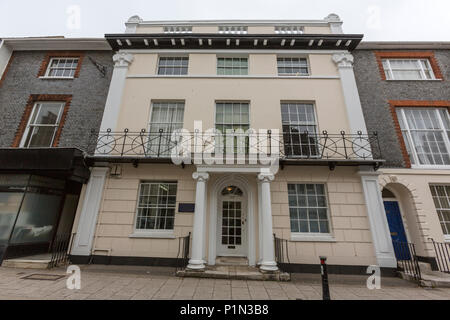 Gideon Mantell house 166 High Street, Lewes, East Sussex, England, UK - Stock Photo