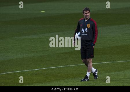 March 26, 2018 - Madrid, Madrid, Spain - Julen Lopetegui during the training of the Spanish soccer team, before the friendly match between Spain and Argentina., on March 27, 2018. Wanda Metropolitano Stadium, Madrid, Spain. (Credit Image: © Jose Breton/NurPhoto via ZUMA Press)  FILE PHOTOS: The Spanish team selection coach, Julen Lopetegui, destitute from his position - Stock Photo