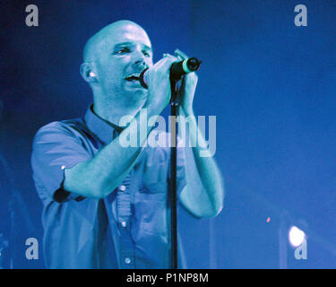 ATLANTA, GA - July 10: Moby rehearses the night before the opening date of the AREA : ONE Festival at Lakewood Amphitheatre in Atlanta, Georgia on July 10, 2001. CREDIT: Chris McKay / MediaPunch - Stock Photo