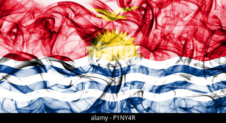 Kiribati smoke flag - Stock Photo