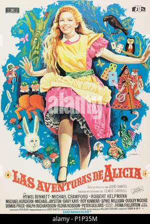 Original Film Title: ALICE'S ADVENTURES IN WONDERLAND.  English Title: ALICE'S ADVENTURES IN WONDERLAND.  Film Director: WILLIAM STERLING.  Year: 1972. - Stock Photo