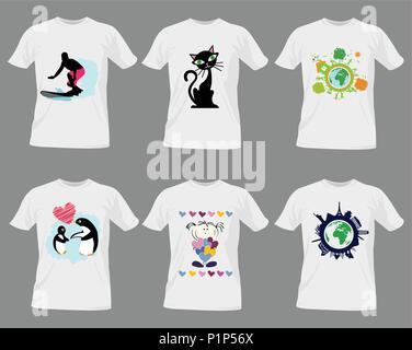 T-shirt templates design - Stock Photo