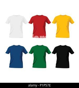 T-shirt templates - Stock Photo