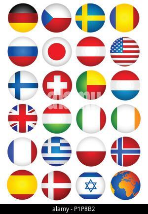 Flag set - Stock Photo