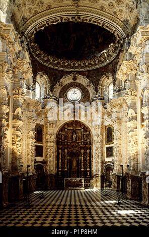 'Cartuja' Monastery; Sacristy ('churriguería' / baroque style). - Stock Photo
