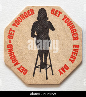 Vintage British Beer Mat Advertising - Stock Photo
