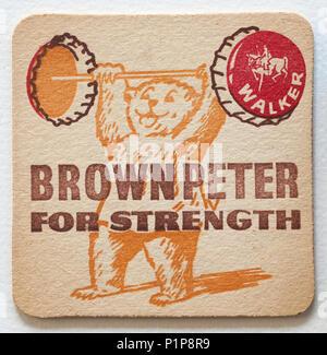 Vintage British Beer Mat Advertising - Stock Photo