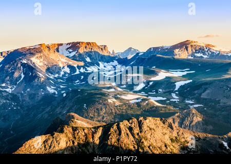 View from the Beartooth Highway; Cody, Wyoming, United States of America - Stock Photo