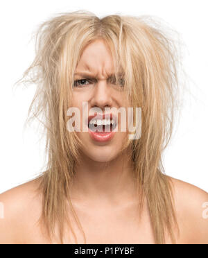 Bad hair day funny concept - Stock Photo