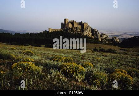 Loarre castle at the pre- Pyrenees. - Stock Photo