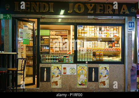 Mercado de la Cebada - Cebada market in Madrid, Spain - Stock Photo