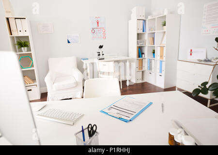 Interior of Doctors Office in Modern Clinic - Stock Photo