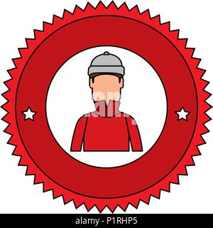 snowboarder man avatar character vector illustration design - Stock Photo