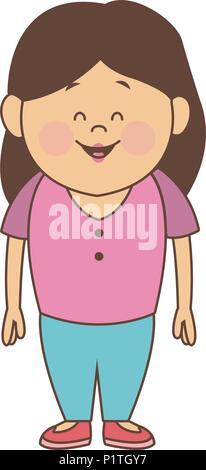 Cute mother cartoon - Stock Photo