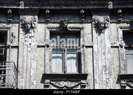 Art Nouveau style property in Tbilisi dated 1912 - Stock Photo