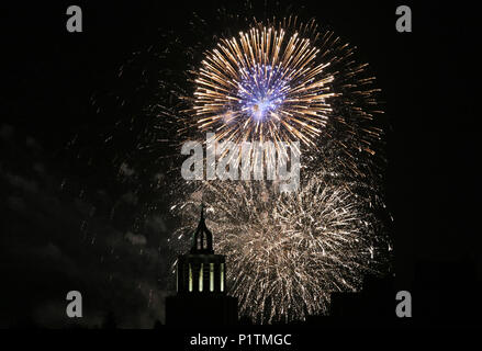 Berlin, Germany, Fireworks - Stock Photo