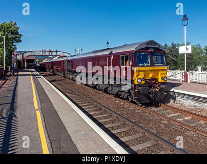 The Belmond Royal Scotsman at Aviemore railway station Highland Scotland UK - Stock Photo