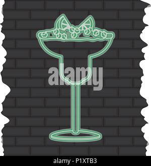 cocktail liquor with lemon and ice cubes - Stock Photo