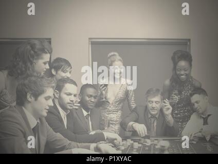 Group of people in casino - Stock Photo