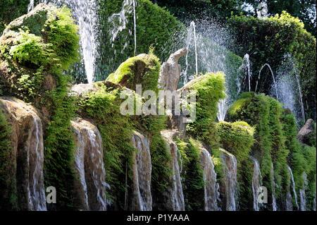 Italy, Tivoli, near Roma, Le Cento Fontane (The Hundred Fountains) in the park of the Villa d'Este - Stock Photo