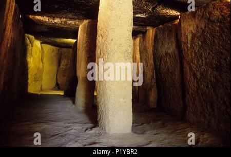 Antequera, 'Menga' dolmen (megalític, prehistoric architecture) 2500 b.c. - Stock Photo