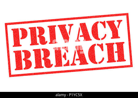 PRIVACY BREACH red Rubber Stamp over a white background. - Stock Photo