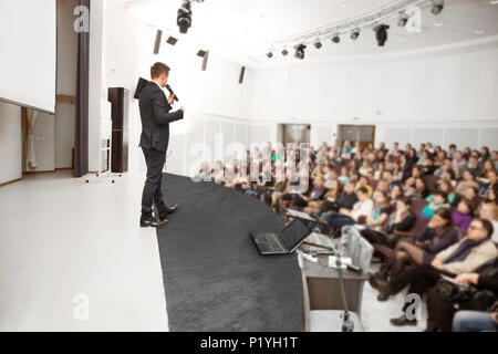 Speaker at a business conference and presentation. - Stock Photo