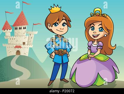 Prince and Princess - Stock Photo