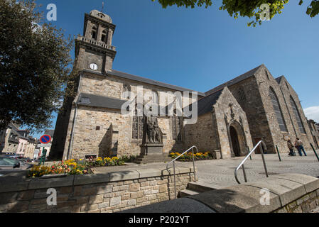 Church of Saint Pierre ( Église Saint Pierre ), Crozon,  Finistère, Brittany, France. - Stock Photo