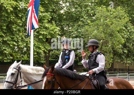 Mounted Police of The Metropolitan Police Mounted Branch at The 2108 Trooping Of The Colour Ceremony - Stock Photo