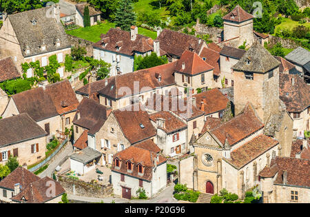 France, Lot, Quercy, Dordogne valley, Autoire - Stock Photo