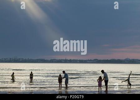 France, Saint-Brevin, Loire-Atlantique, swim in the Loire estuary - Stock Photo