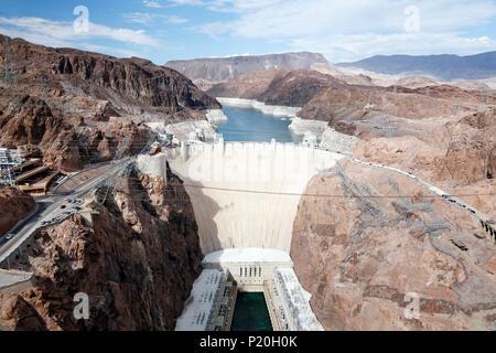 USA. Arizona. Nevada. Colorado River. Lake Mead. Hoover Dam Dam. - Stock Photo