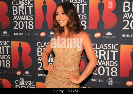 Royal Albert Hall, London, UK 13th June 2018, Mylene Klass the host for the Classic Brits Awards 2018, Classic Brits Awards 2018 at the Royal Albert Hall in London, © Richard Soans/Alamy Live News - Stock Photo