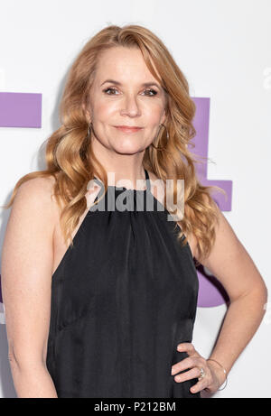 New York, NY, USA - June 12, 2018: Lea Thompson attends the New York special screening of the Netflix film 'Set It Up' at AMC Loews Lincoln Square Credit: Sam Aronov/Alamy Live News - Stock Photo