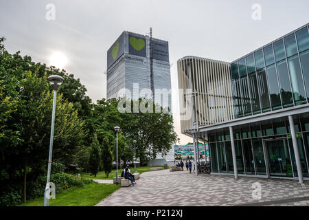 London, UK. 13th June, 2018. Grenfell Tower.On the first anniversary of the Grenfell Tower fire, the area around the tower has been filled with flowers, candles and messages to remember those who lost their lives. Credit: Brais G. Rouco/SOPA Images/ZUMA Wire/Alamy Live News - Stock Photo