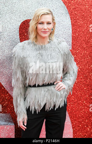 London, UK. 13th June 2018. Cate Blanchett at European Premiere of Ocean's 8 on Wednesday 13 June 2018 held at Cineworld Leicester Square, London. Pictured: Cate Blanchett. Picture by Julie Edwards. Credit: Julie Edwards/Alamy Live News - Stock Photo