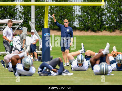 Jun 13, 2018: Dallas Cowboys head coach Jason Garrett during mandatory training camp at The Star in Frisco, TX Albert Pena/CSM - Stock Photo