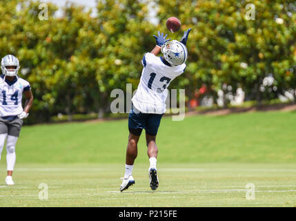 Jun 13, 2018: Dallas Cowboys wide receiver Michael Gallup #13 during mandatory training camp at The Star in Frisco, TX Albert Pena/CSM - Stock Photo
