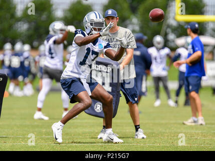 Jun 13, 2018: Dallas Cowboys wide receiver Allen Hurns #17 during mandatory training camp at The Star in Frisco, TX Albert Pena/CSM - Stock Photo