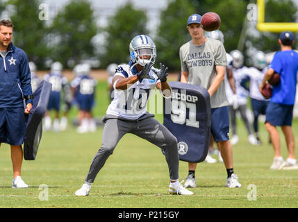 Jun 13, 2018: Dallas Cowboys wide receiver Tavon Austin #10 during mandatory training camp at The Star in Frisco, TX Albert Pena/CSM - Stock Photo