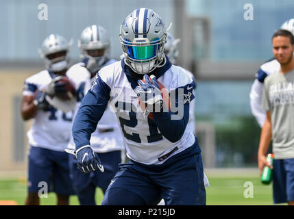 Jun 13, 2018: Dallas Cowboys running back Ezekiel Elliott #21 during mandatory training camp at The Star in Frisco, TX Albert Pena/CSM - Stock Photo