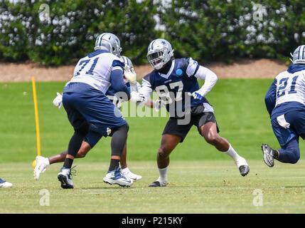 Jun 13, 2018: Dallas Cowboys defensive end Taco Charlton #97 during mandatory training camp at The Star in Frisco, TX Albert Pena/CSM - Stock Photo