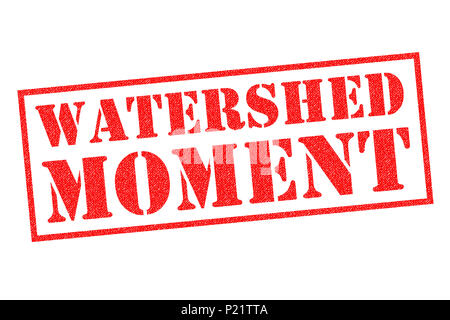 WATERSHED MOMENT red Rubber Stamp over a white background. - Stock Photo
